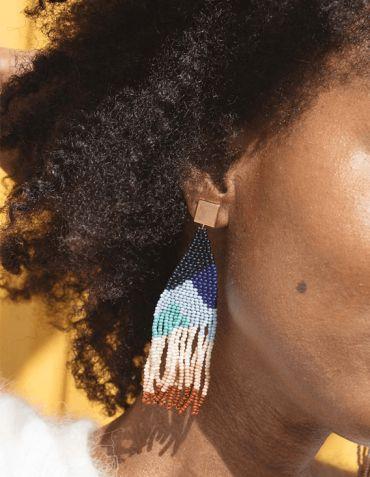 Boucles d'Oreille fantaisie et artisanales - Santa Fé - Haiti Design And Co