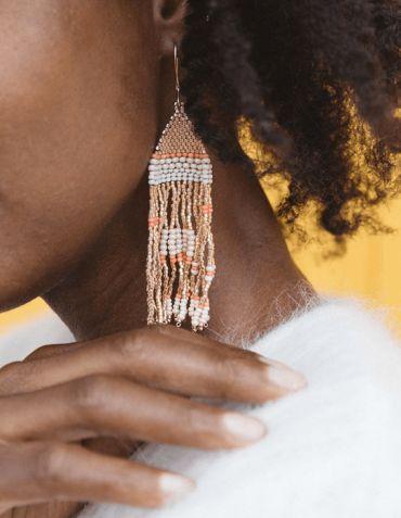 Boucles d'Oreille pendantes - Tapestry - Haïti Design Co