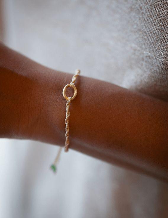 Bracelet fil & anneau forçat Calendé x OÜA
