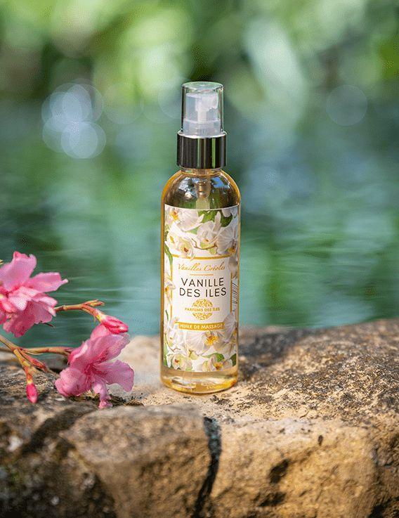 Huile de massage Vanille des Iles 100 ml - Parfum des Iles @ Christine Picard