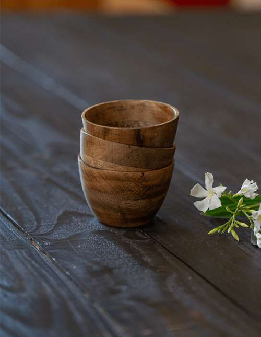 Bol en bois de manguier © Christine Picard