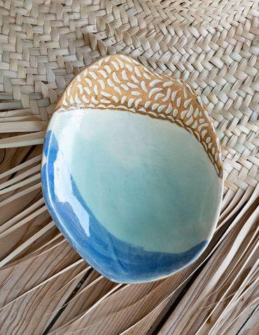 Coupelle en grès Bord de Mer - Catherine Bland Céramiques © Christine Picard