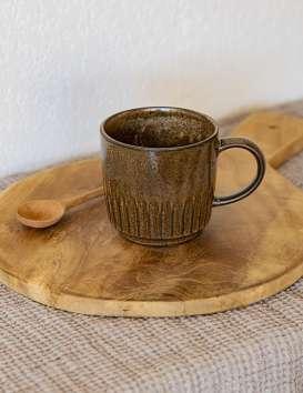 Mug en grès marron Madam Stoltz