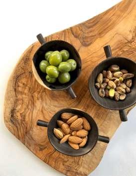 Petit bol apéritif en bois d'ébène de Tanzanie