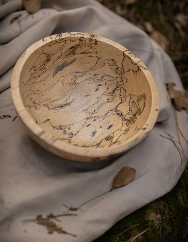 Vide poche en bois de Tamarin - D. Grandisson © Christine Picard